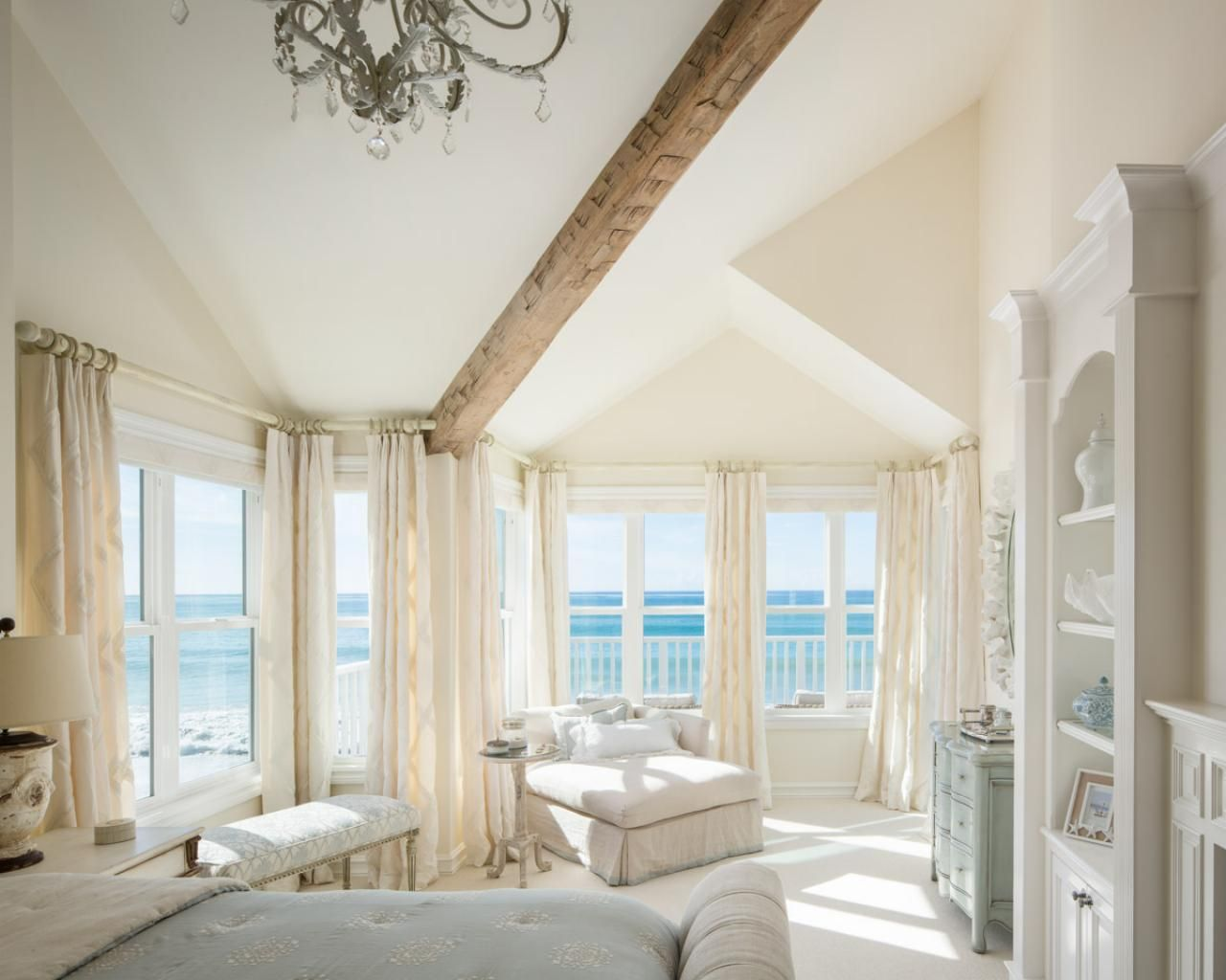 Beach house with soft natural white