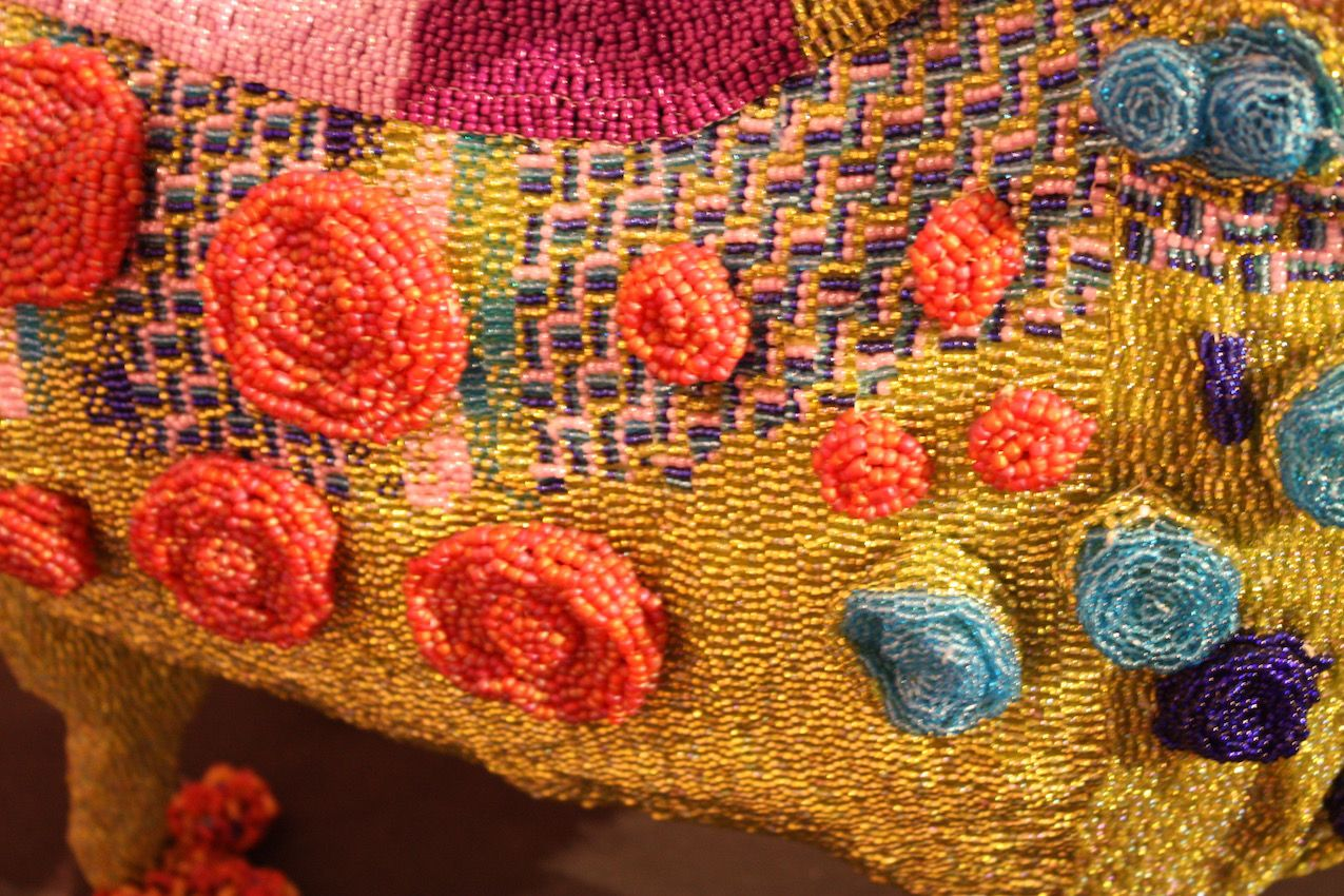 Again, the beading by the African artists is three-dimensional, intricate and interesting.