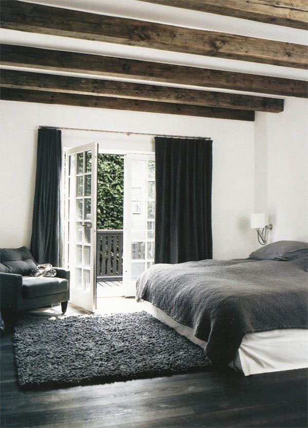 Bedroom exposed beams