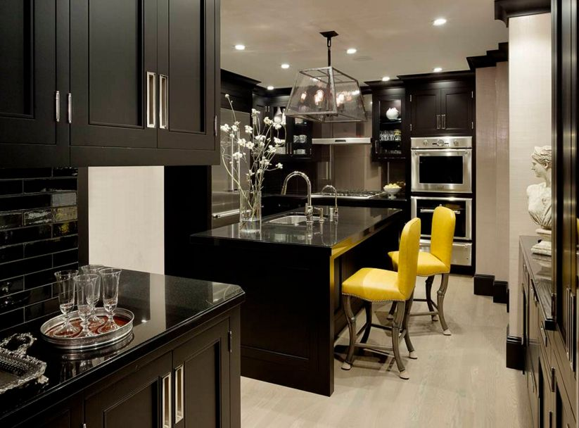 Black and drama with pops of yellow
