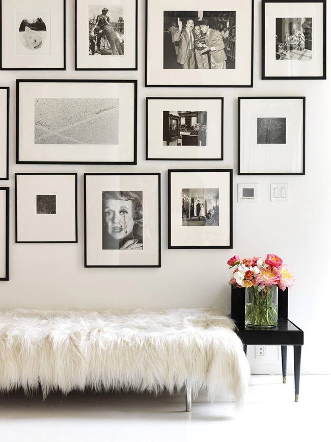 Black and white combo frames