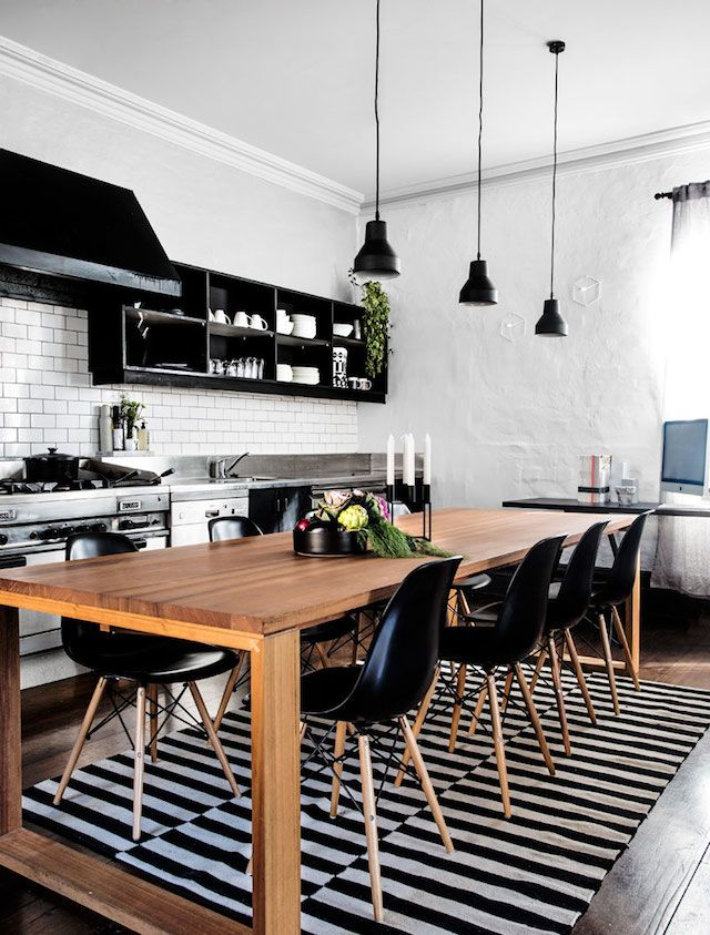 Black And White Youth Kitchen Design