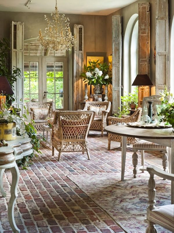Brick Flooring for french country decor