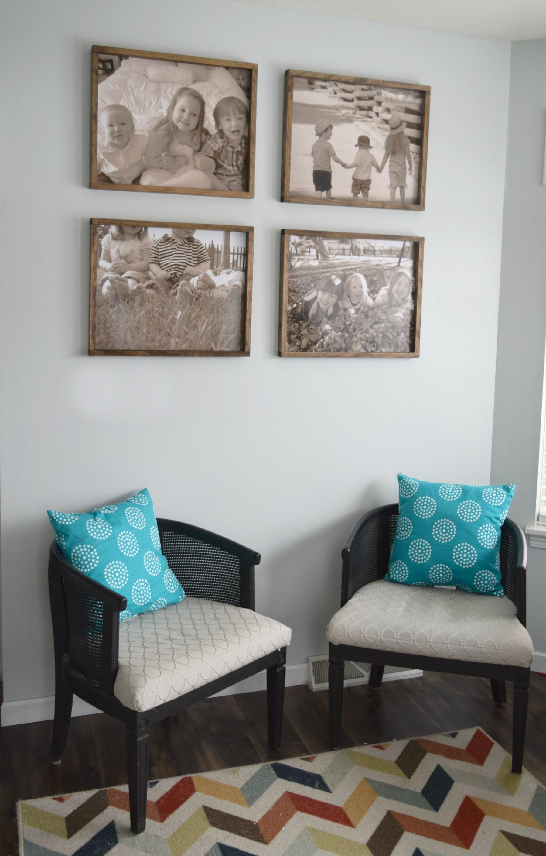 DIY Rustic Wood Frame - Making Pictures Into Memories