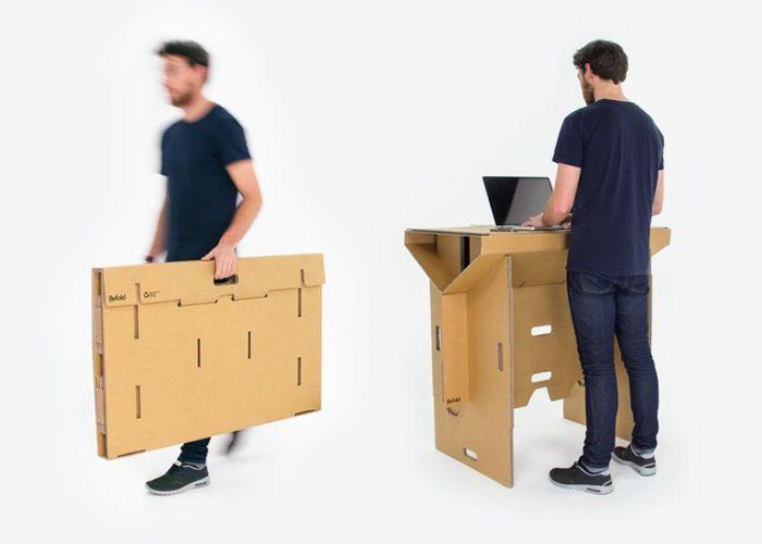 Cardboard mobile standing desk