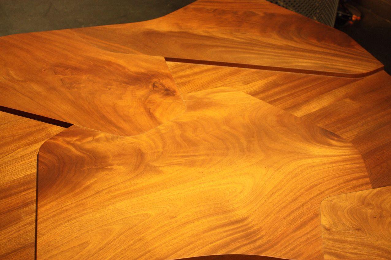 The undulating grain of the mahogany wood is stunning.