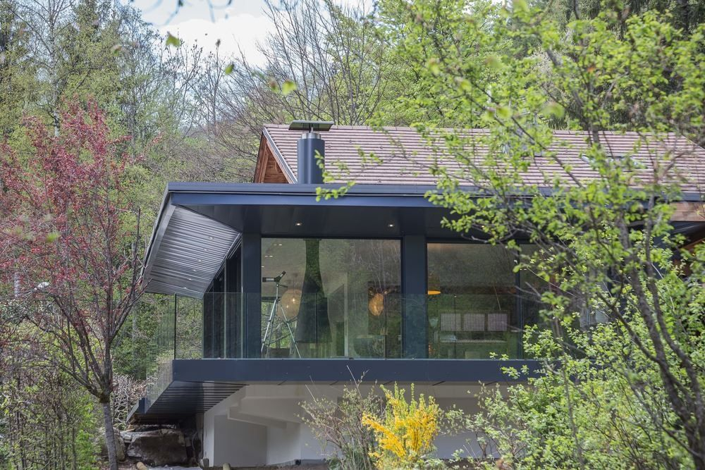 Chalet SOLEYÂ in France architecture forest view