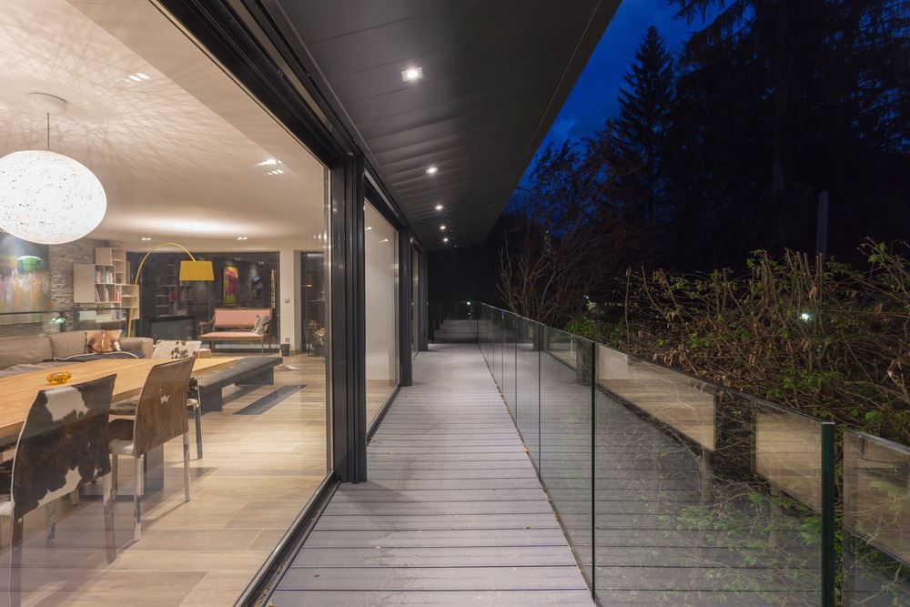 Chalet SOLEYÂ in France glass balustrade for balcony