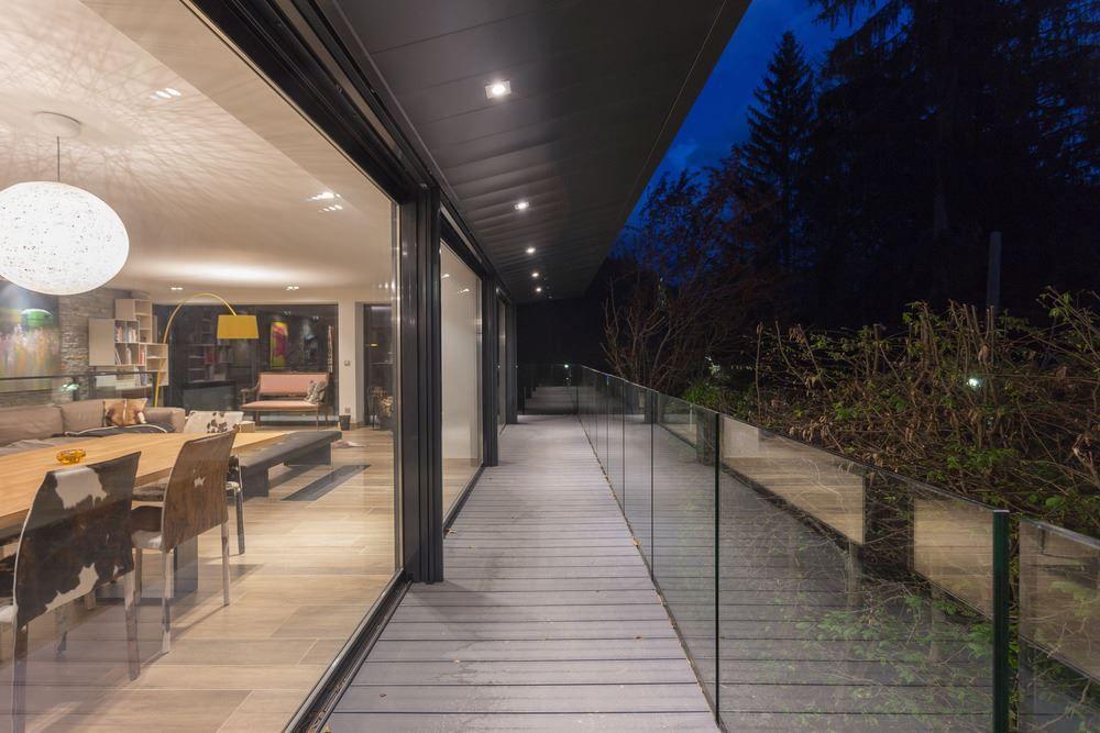 Chalet SOLEYÂ in France glass balustrade for balcony