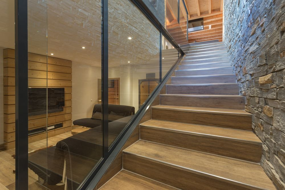 Chalet SOLEYÂ in France stairs