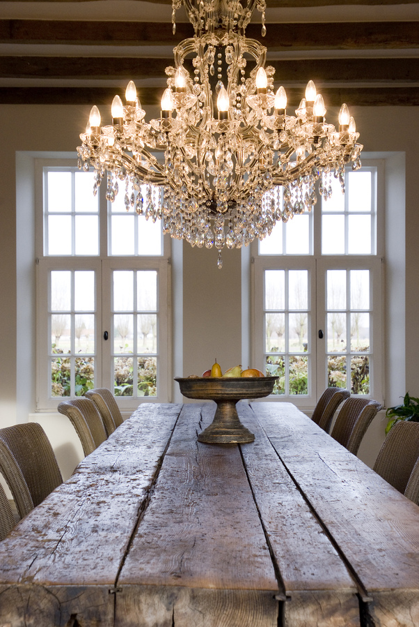 Charming ideas french country decorating ideas chandelier over the french dining table aloadofball Images