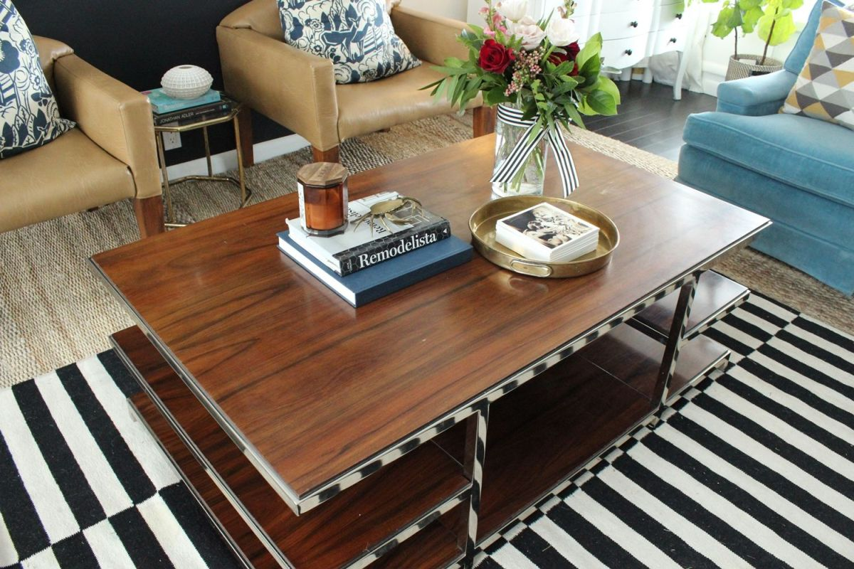 Change decor of room with a coffee table