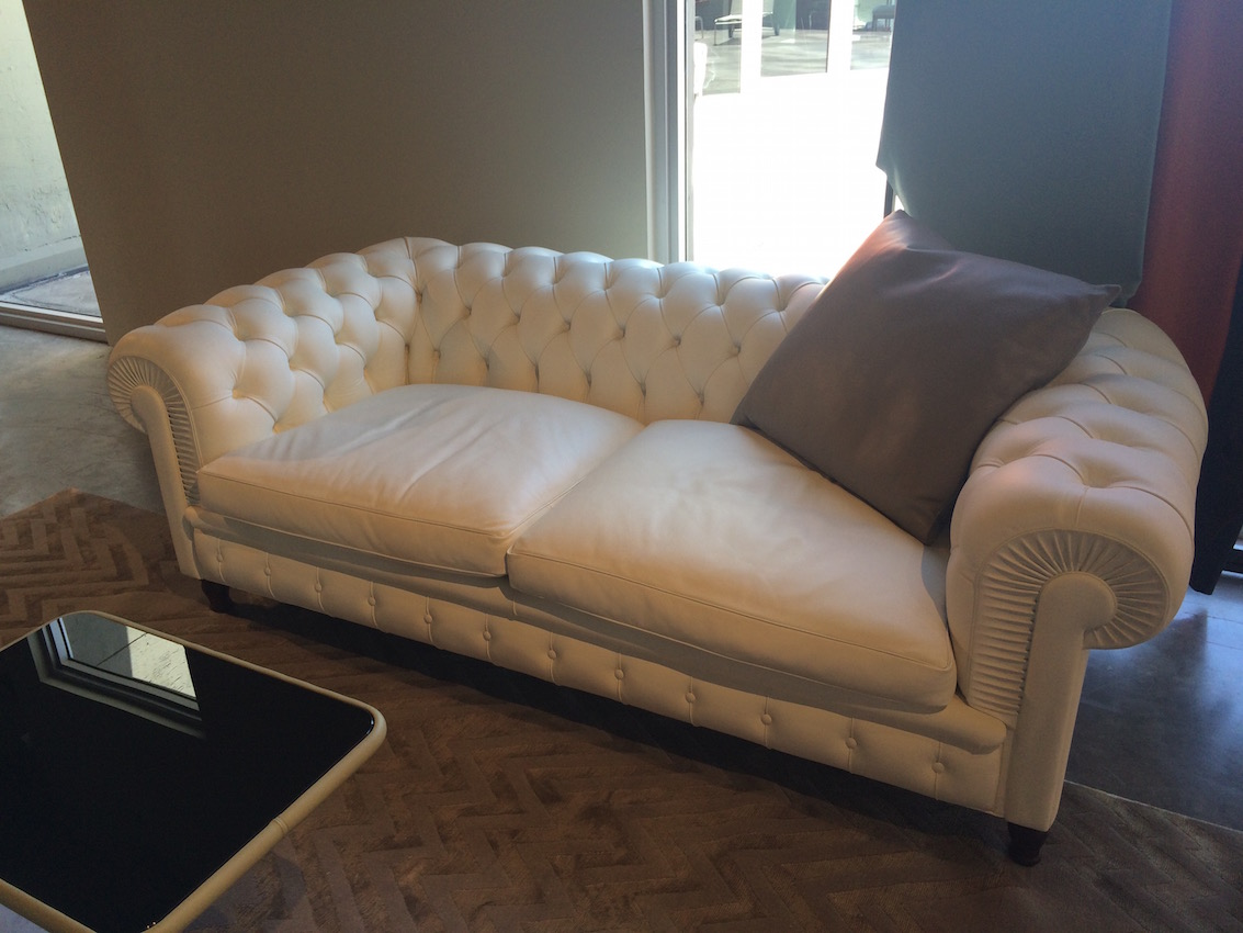 The classic tufted style Chester One sofa from Poltrona Frau would work for those with more tailored taste preferences.