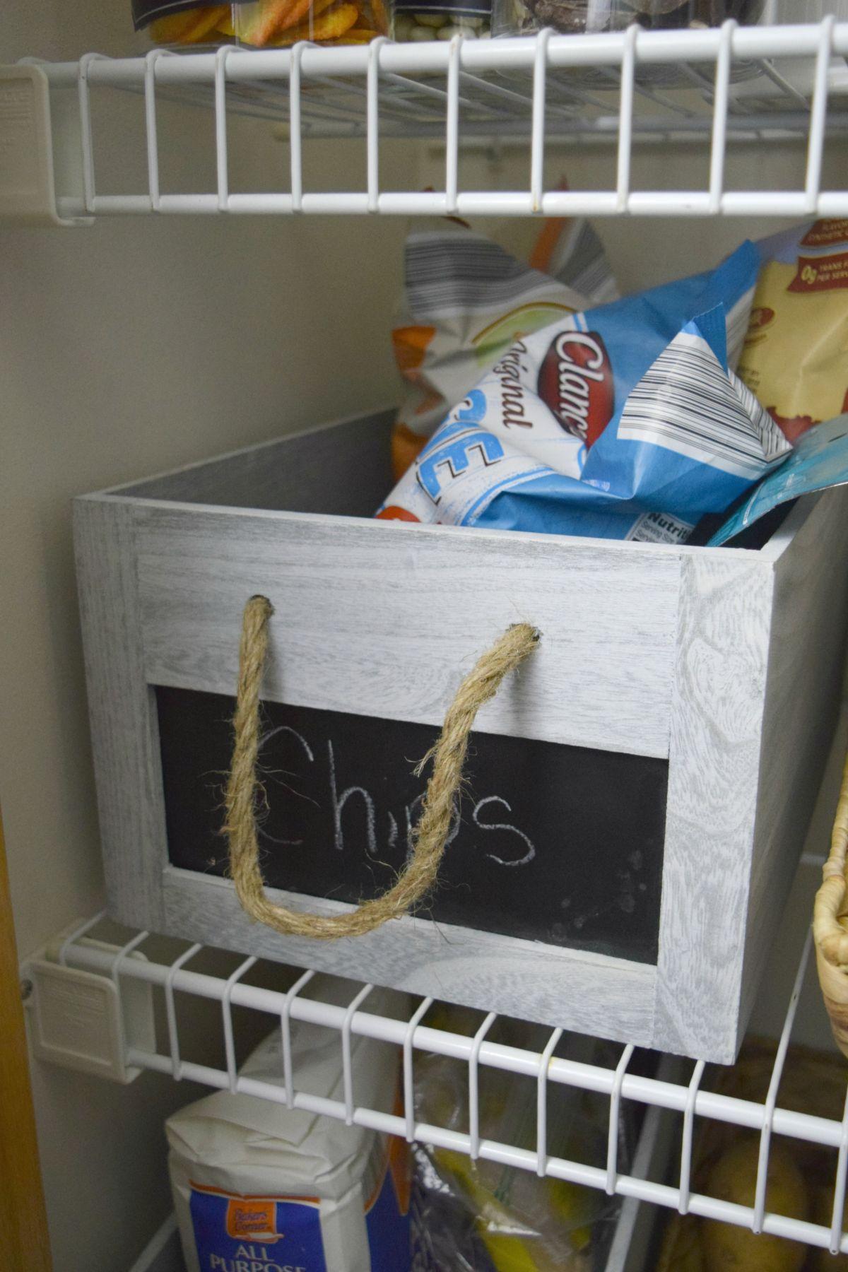 Chips basket storage