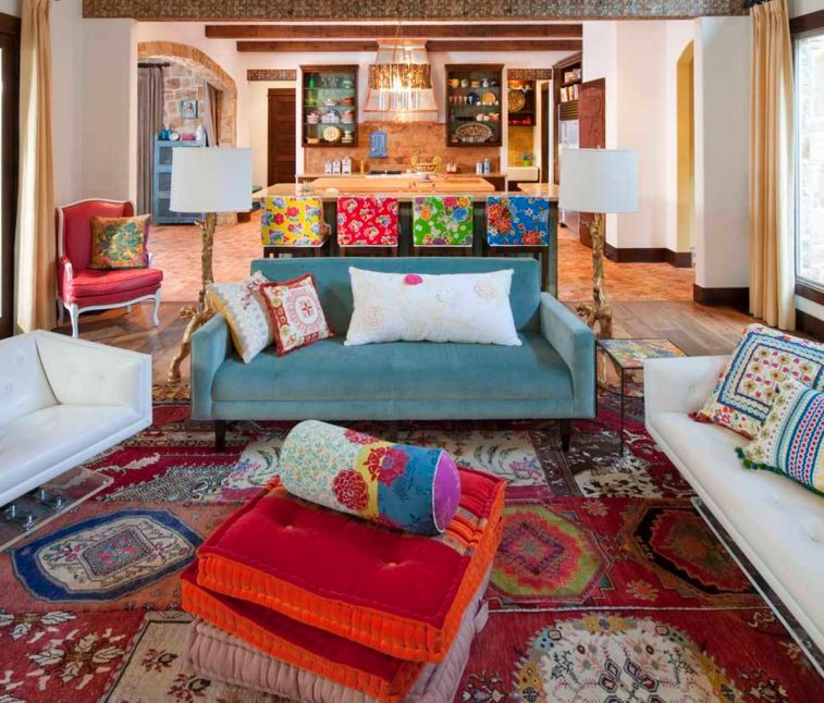 20 Dreamy Boho Room Decor Ideas : Color Rich from www.homedit.com size 757 x 646 jpeg 105kB