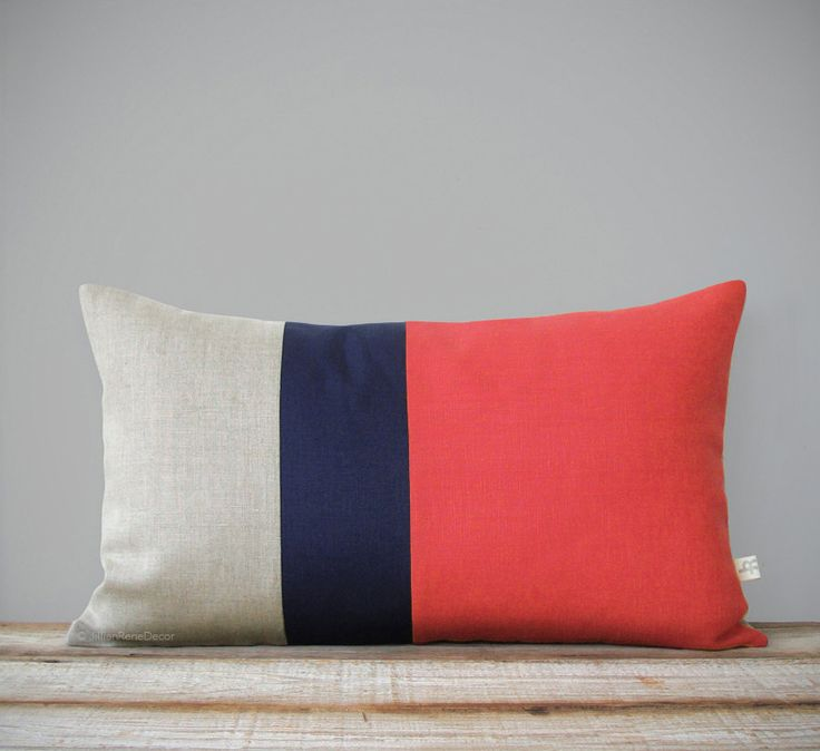 Colorblock throw pillow
