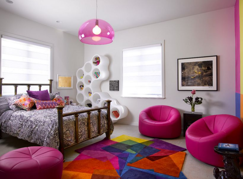 Colorful Teenager Girl Room