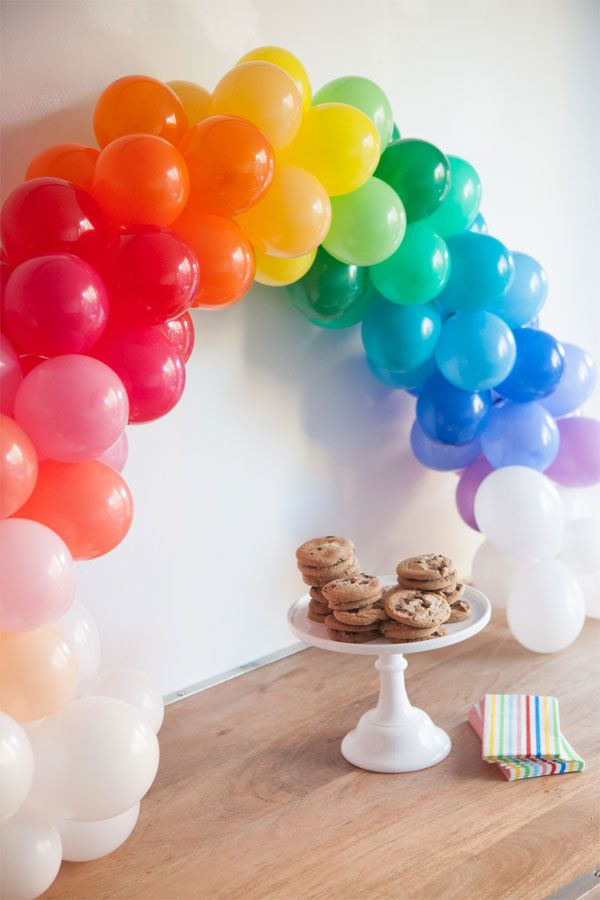 Colorful balloons arch Clever and Unexpected Ways