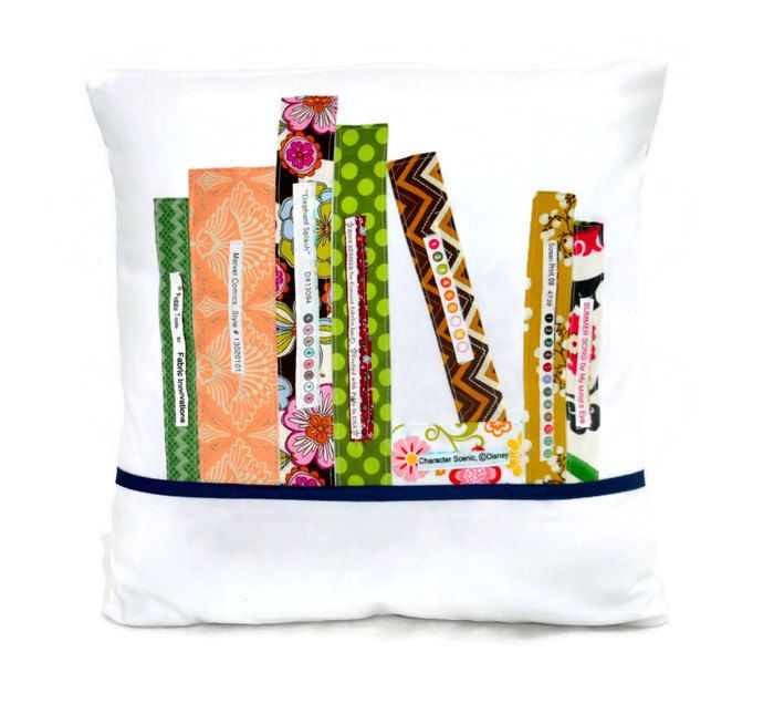 Colorful books throw pillow
