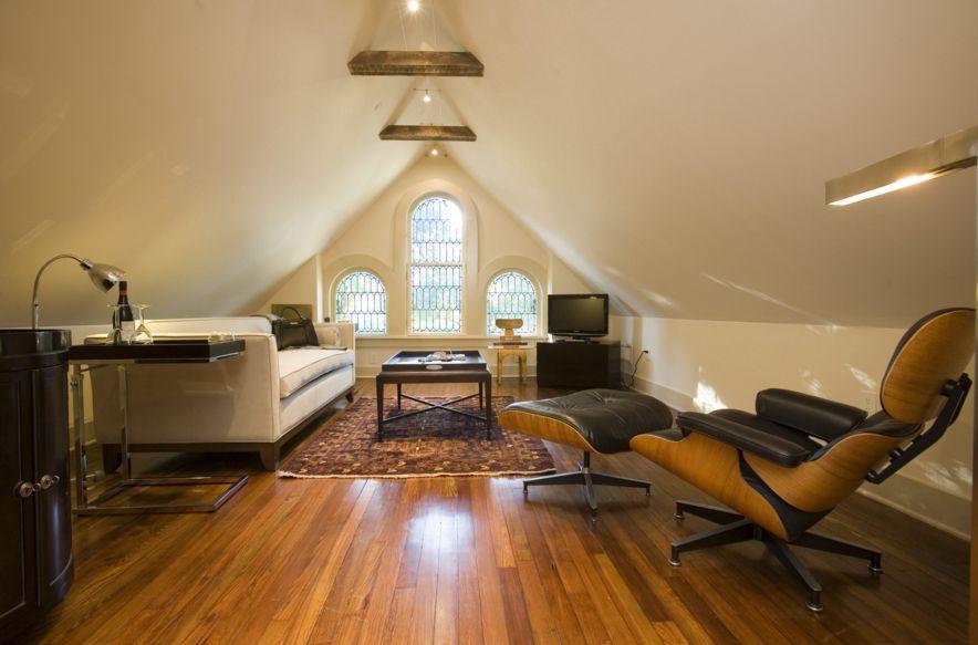 Comfortable attic room