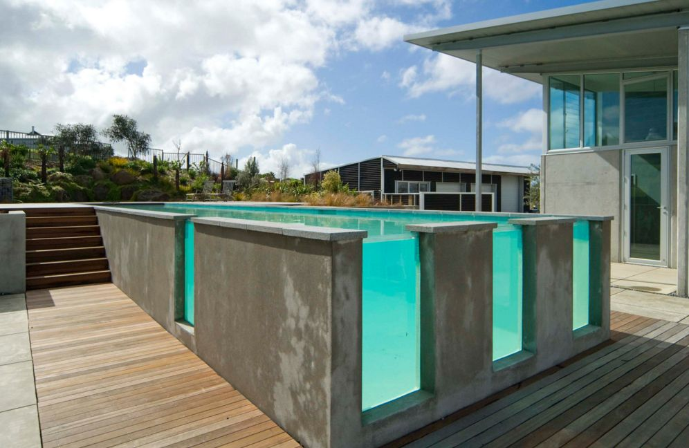 Concrete Swimming Pool With Gl Windows
