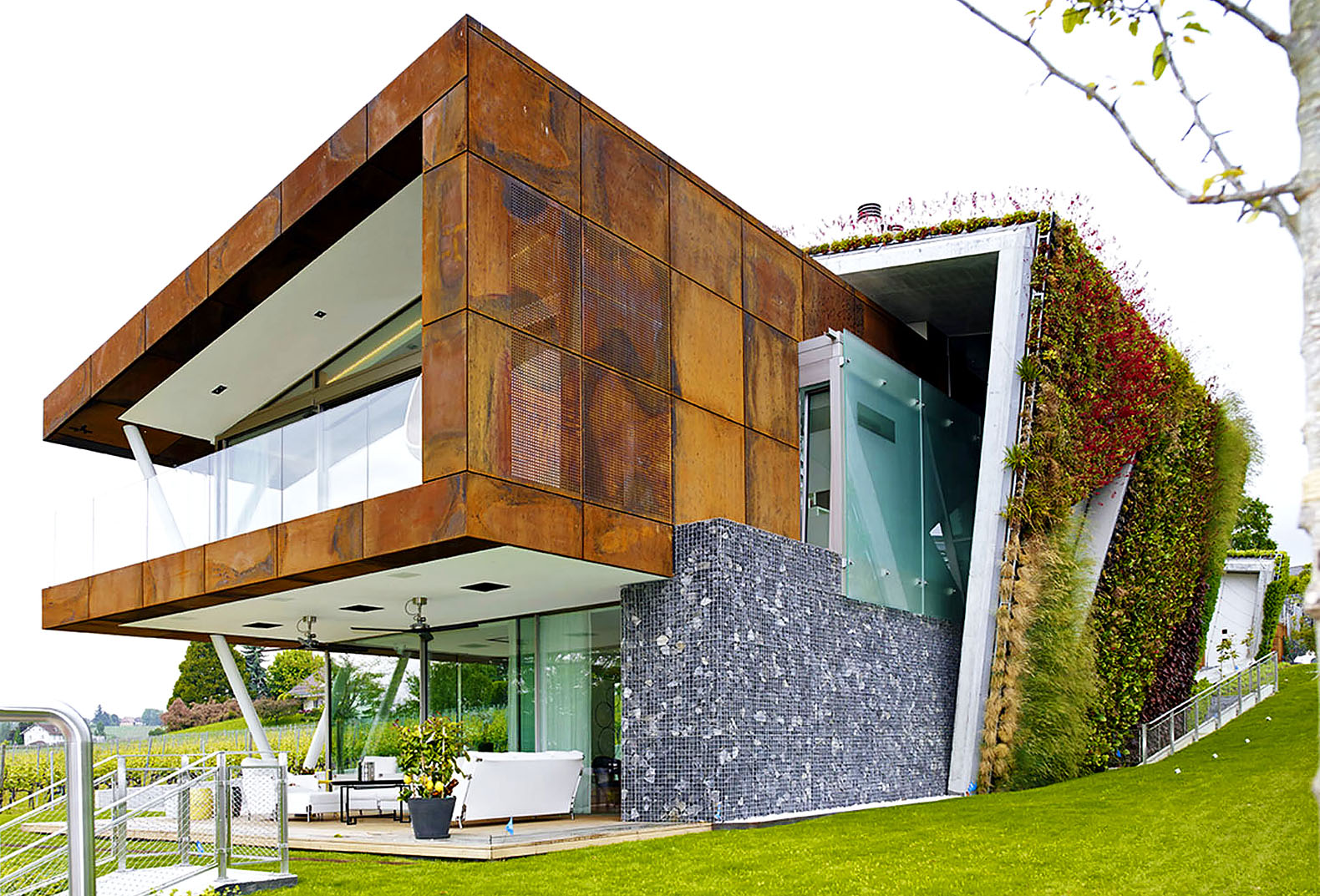 Exploring the world of green roofs and underground homes for Green modern home designs