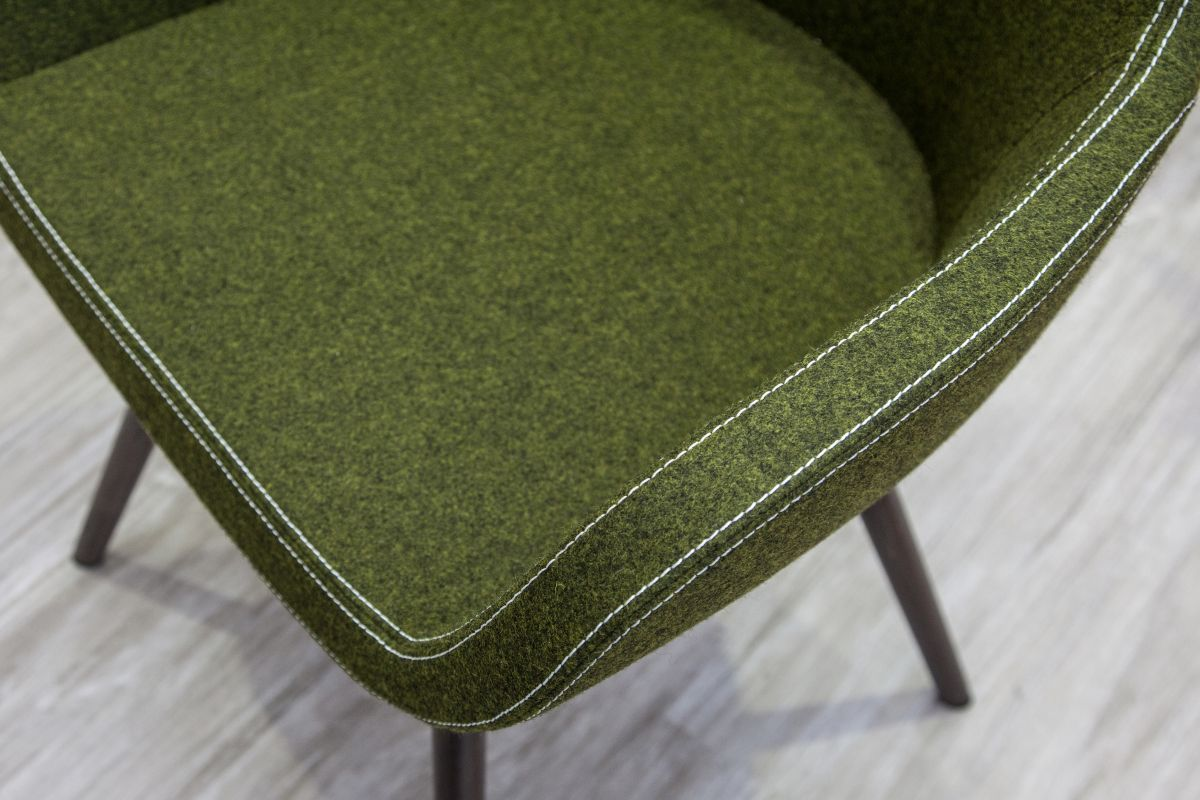 Contemporary green chair seating