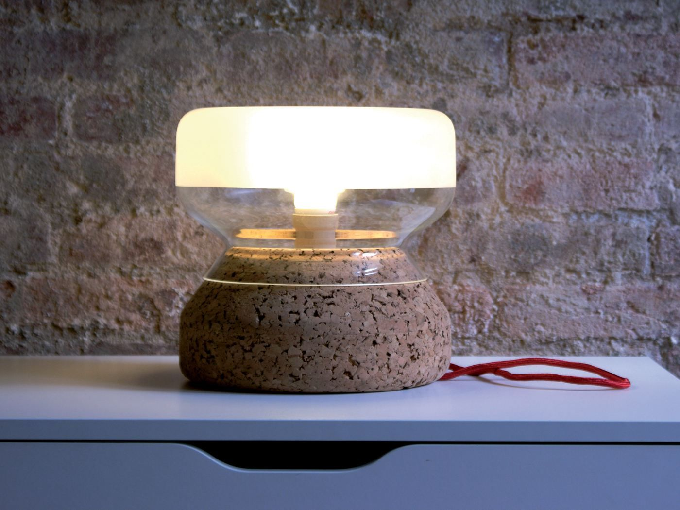 Cork table lamp annexo atipico