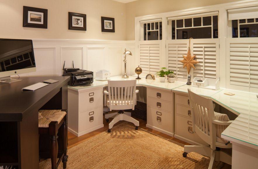 Corner space for desk