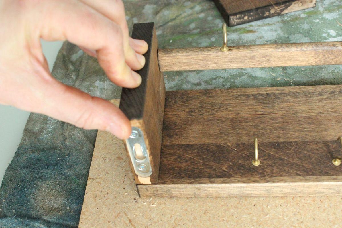 DIY Jewelry Holder - dowel