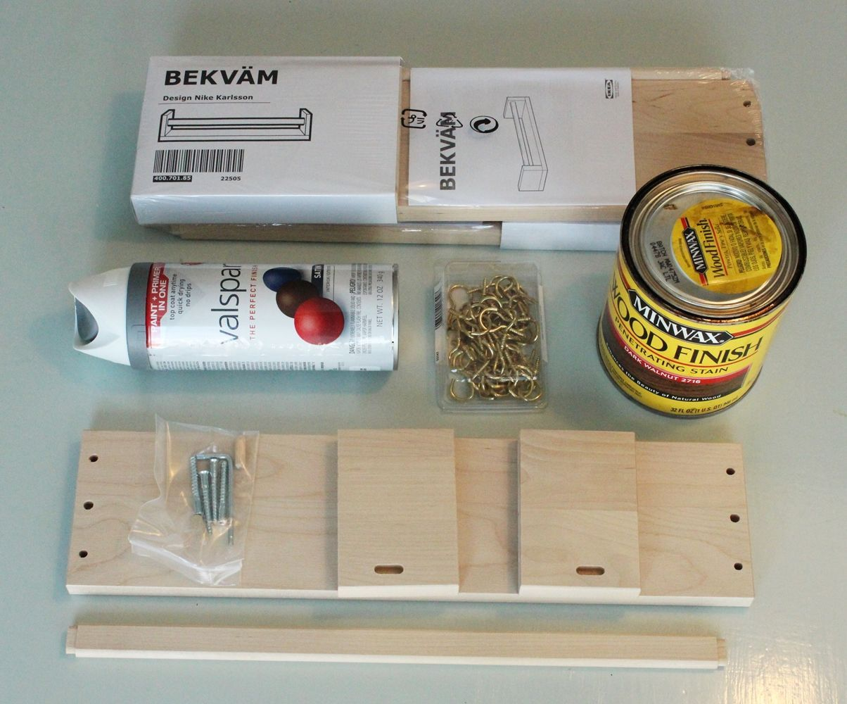 DIY Jewelry Holder out of Spice Rack - Materials
