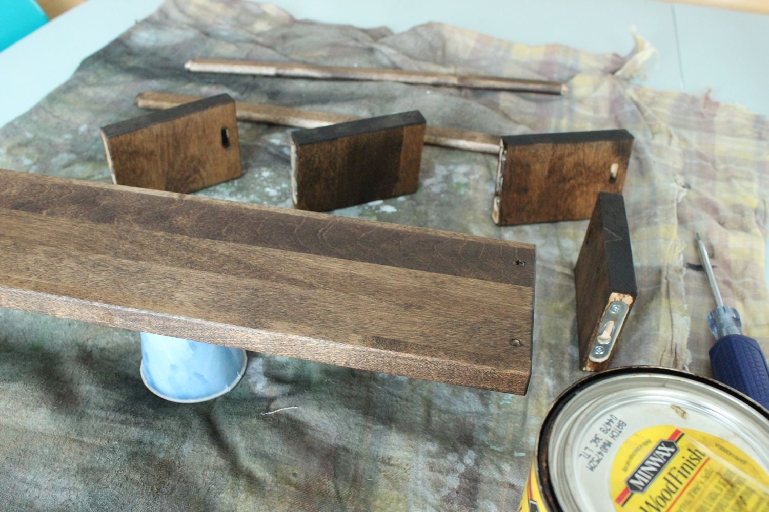 DIY Jewelry Holder - stained wood