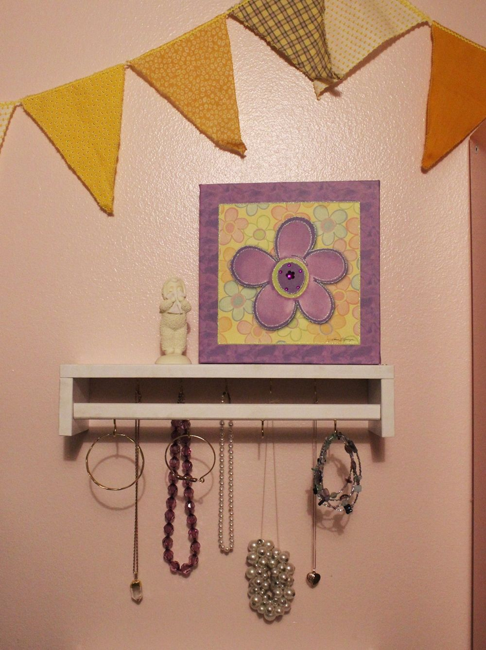 DIY Jewelry Holder - wall hanging