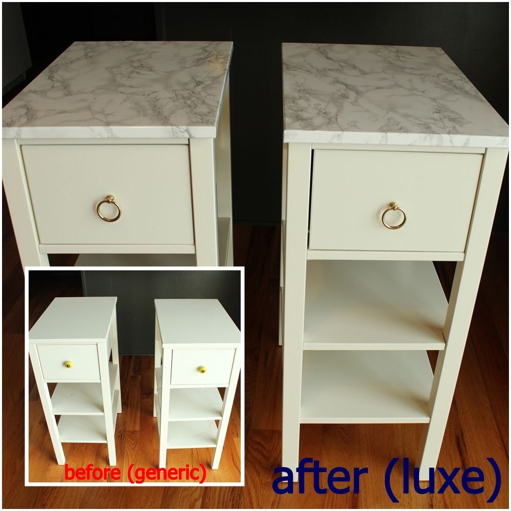 DIY Marble Contact Paper - before and after