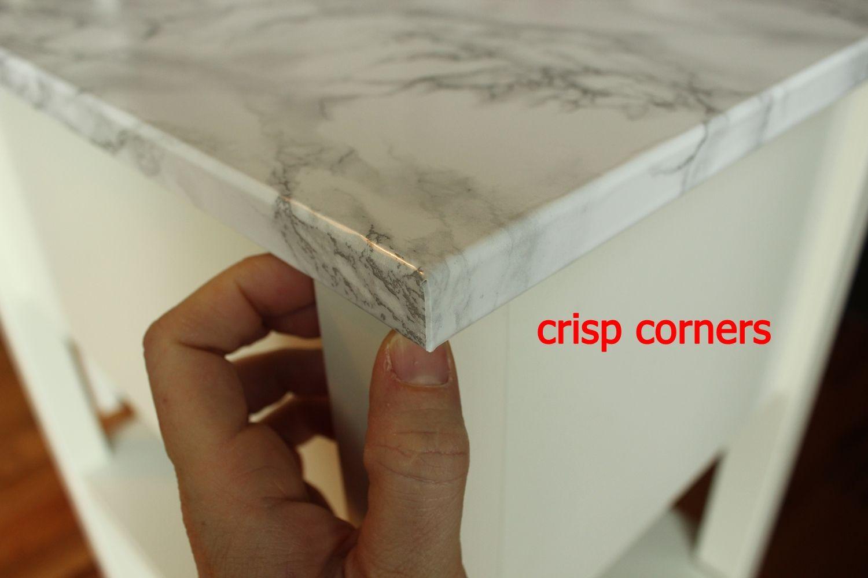 DIY Marble Contact Paper - crisp corners
