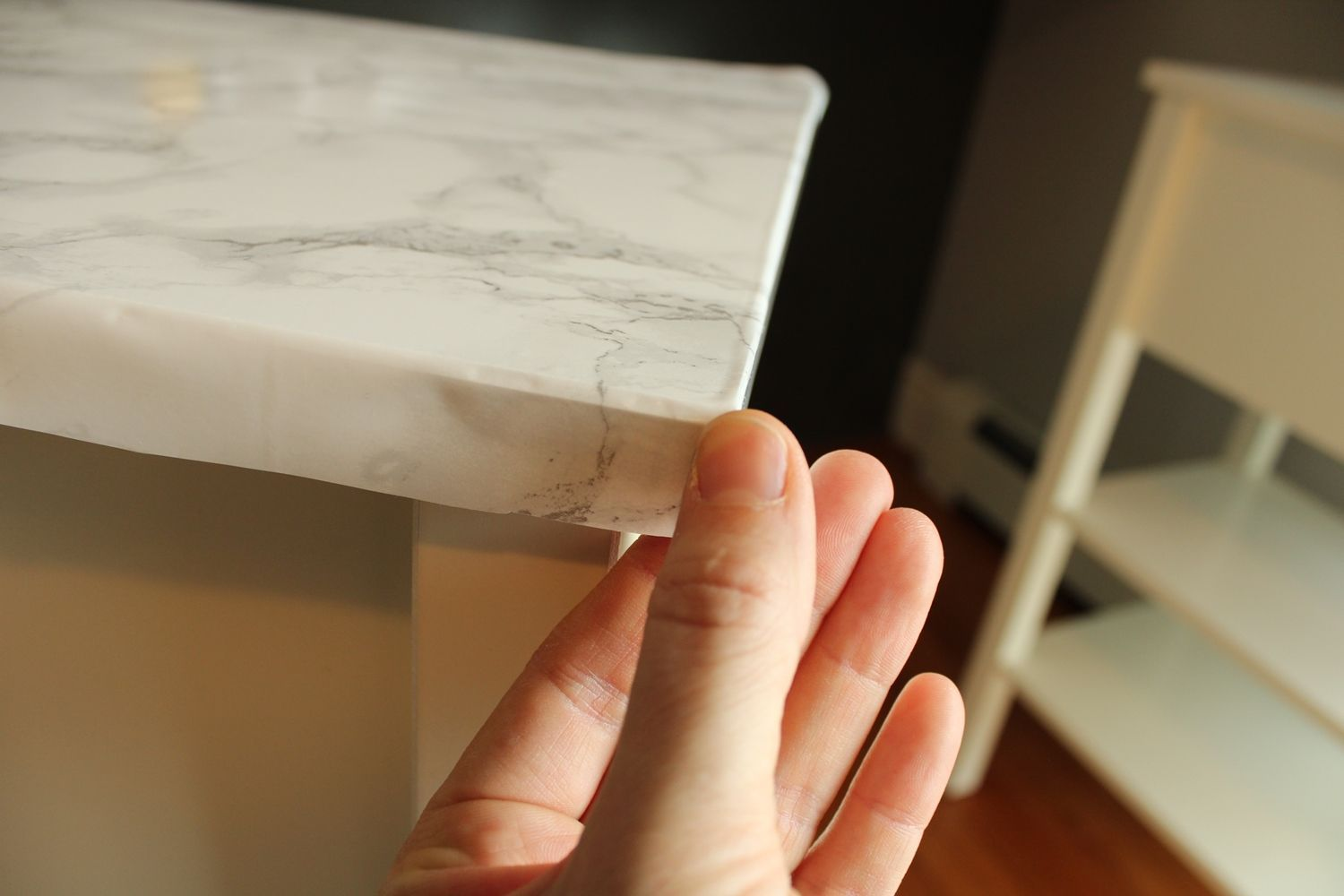 DIY Marble Contact Paper - flap front part