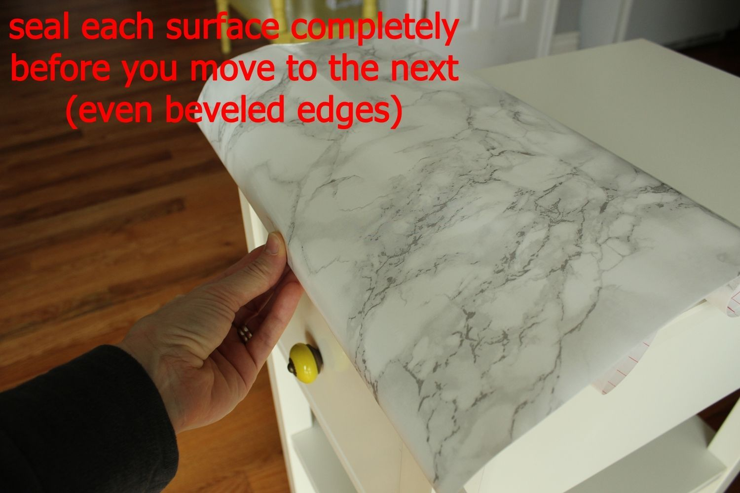 DIY Marble Contact Paper - fold the paper