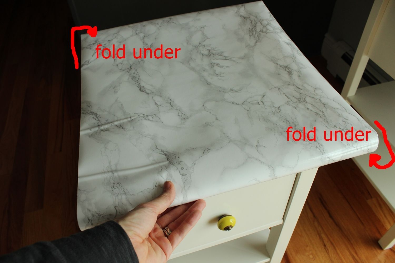 DIY Marble Contact Paper - measuring tape