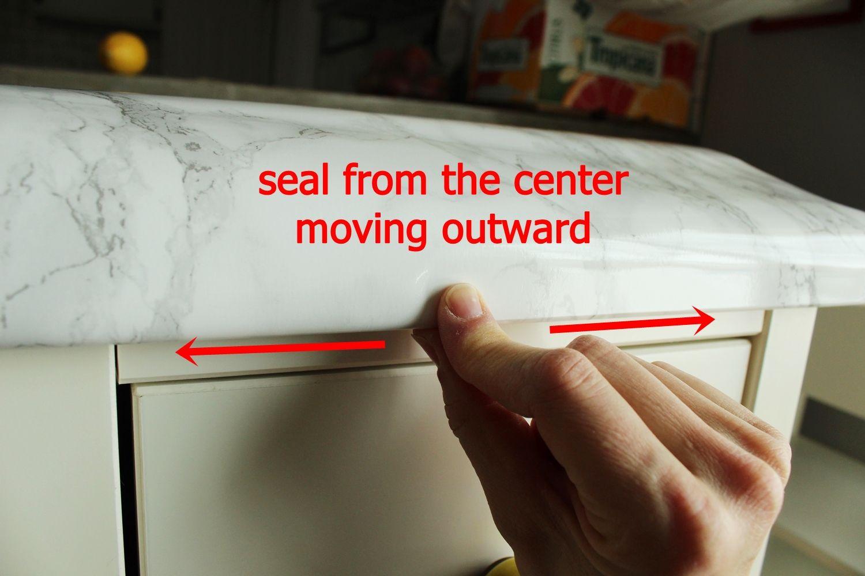 DIY Marble Contact Paper - press