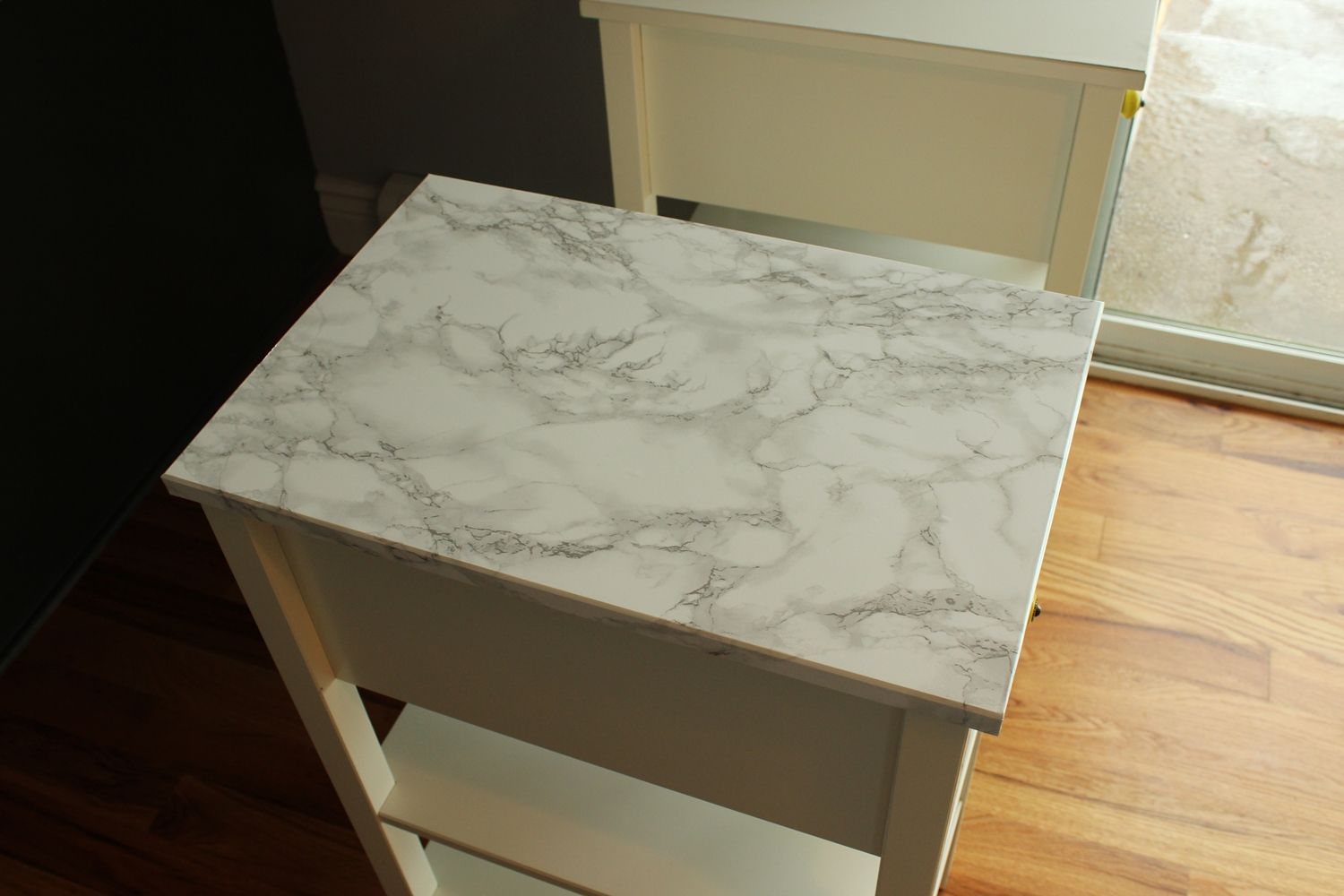 DIY Marble Contact Paper top view