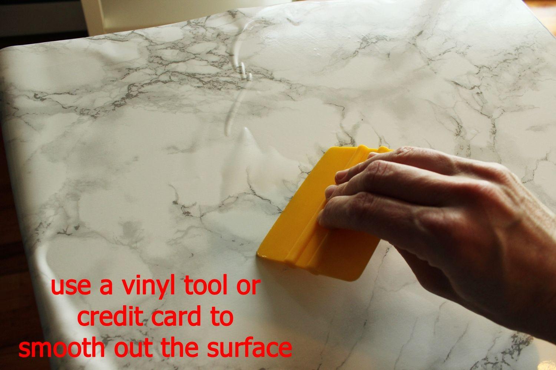 DIY Marble Contact Paper - vinyl tool