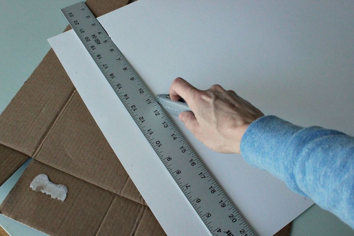DIY Marquee Sign - again use the razor
