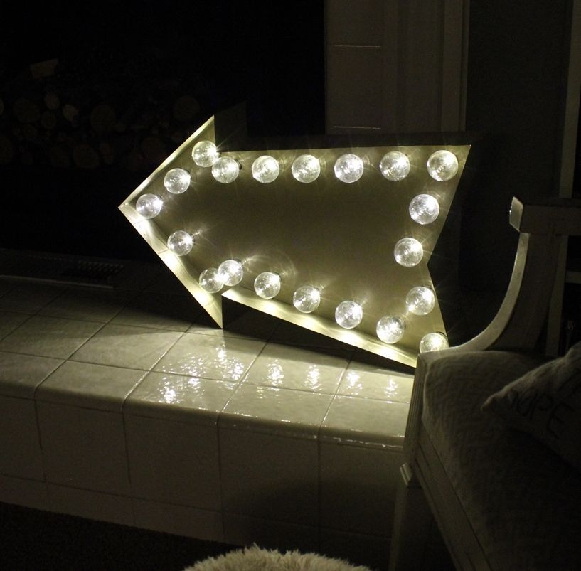 DIY Marquee Sign - lighting fixture