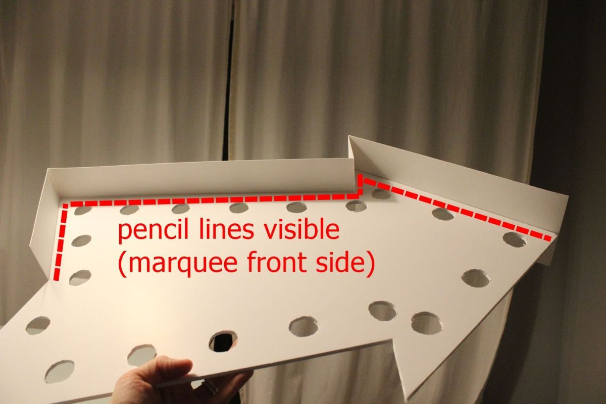 DIY Marquee Sign - pencil line