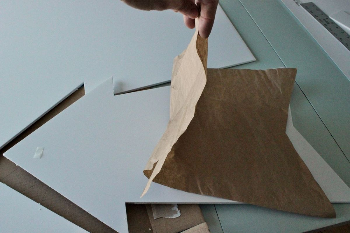 DIY Marquee Sign - remove the butcher paper patern