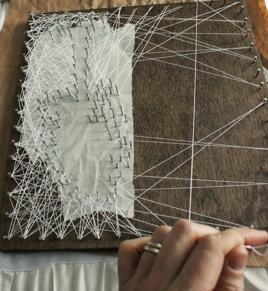 DIY String Art Tree - lengths and angles