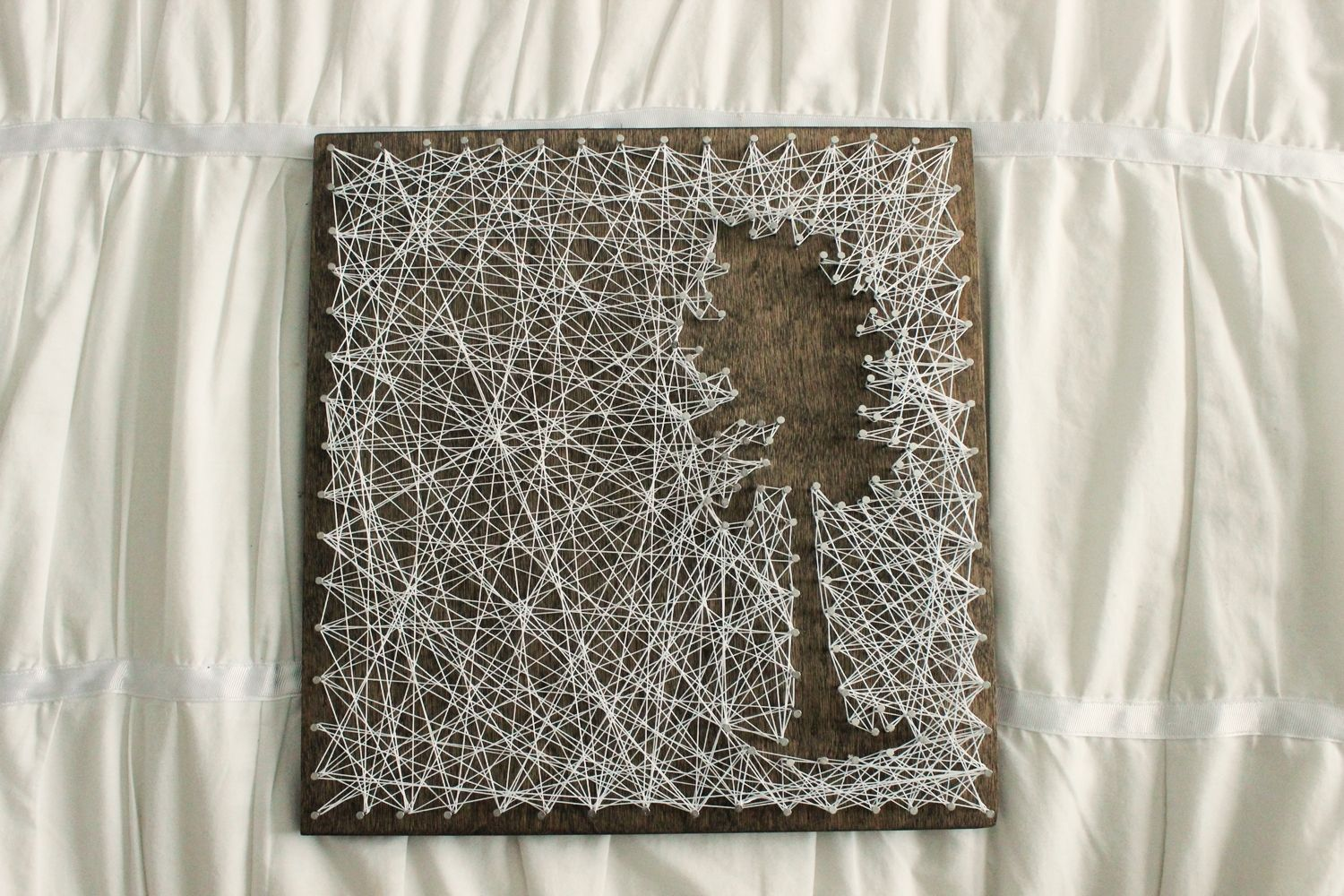 DIY String Art Tree - piece of wall art