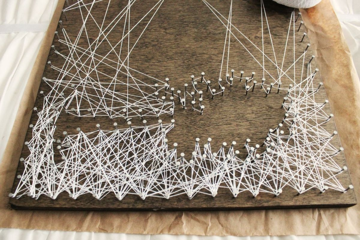 DIY String Art Tree- string art design is off-centered