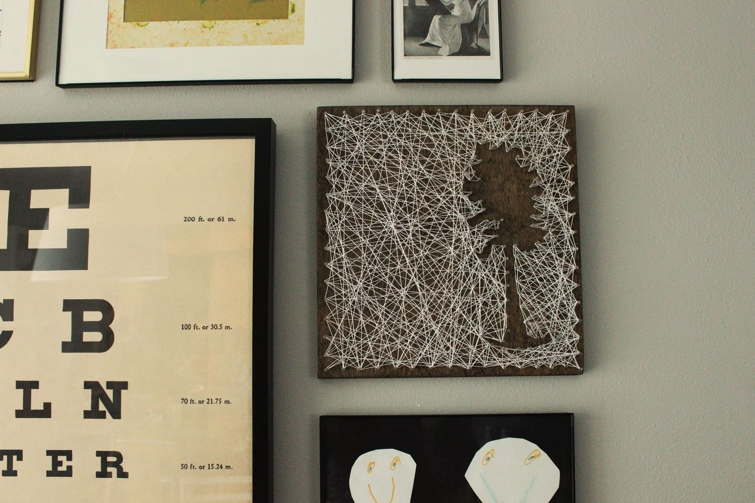 DIY String Art Tree wall hanger