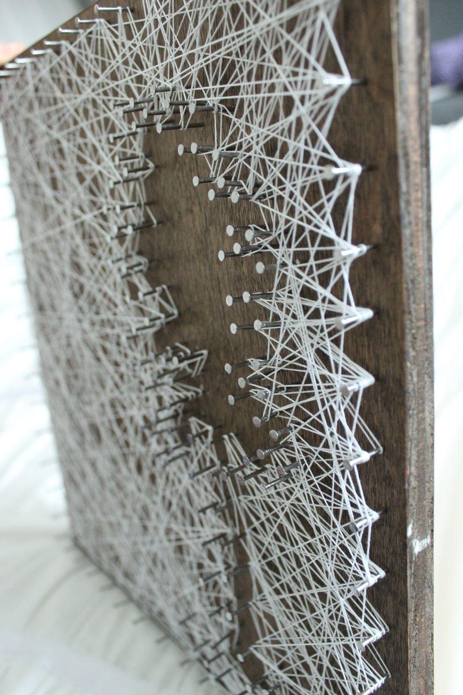 DIY String Art Tree - wood enhances the negative string art tree